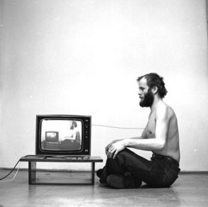 "Pawel Kwiek, ""Video and Breath, Channel of Information"", 1978"